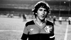 Zico no Estádio do Maracanã